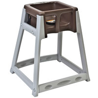 Koala Kare KB877-09 KidSitter Grey Convertible Plastic High Chair with Brown Seat