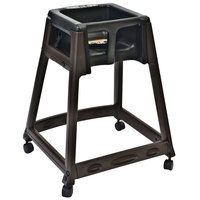 Koala Kare KB866-02W KidSitter Brown Convertible Plastic High Chair with Black Seat and Casters