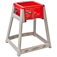 Koala Kare KB888-03 KidSitter Beige Convertible Plastic High Chair with Red Seat