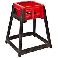 Koala Kare KB866-03 KidSitter Brown Convertible Plastic High Chair with Red Seat