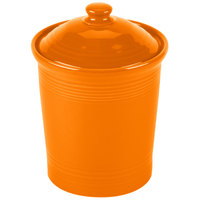 Homer Laughlin 572325 Fiesta Tangerine Medium 2 Qt. Canister with Cover - 2/Case