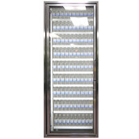 Styleline CL3072-2020 20//20 Plus 30 inch x 72 inch Walk-In Cooler Merchandiser Door with Shelving - Anodized Bright Silver, Left Hinge