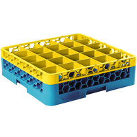 Carlisle RG25-1C411 OptiClean 25 Compartment Yellow Color-Coded Glass Rack with 1 Extender