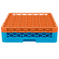 Carlisle RG49-1C412 OptiClean 49 Compartment Orange Color-Coded Glass Rack with 1 Extender