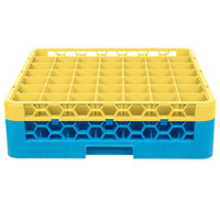 Carlisle RG49-1C411 OptiClean 49 Compartment Yellow Color-Coded Glass Rack with 1 Extender