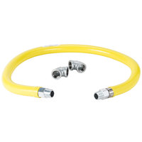 T&S HG-2D-72 Safe-T-Link 72 inch FreeSpin Gas Appliance Connector 3/4 inch NPT