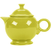 Homer Laughlin 496332 Fiesta Lemongrass 44 oz. Covered Teapot - 4 Sets / Case