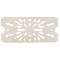 Cambro 40HPD772 1/4 Size Sandstone High Heat Drain Tray