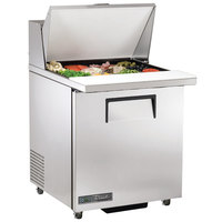 True TSSU-27-12M-C-ADA-HC LH 27 inch ADA Height Mega Top Sandwich / Salad Prep Refrigerator with Left-Hinged Door