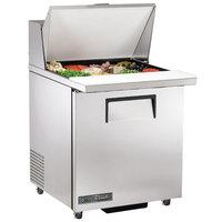 True TSSU-27-12M-C-ADA-HC LH 27 inch ADA Height Mega Top Sandwich / Salad Prep Refrigerator with Left-Hinged Door