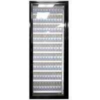 Styleline CL3072-LT Classic Plus 30 inch x 72 inch Walk-In Freezer Merchandiser Door with Shelving - Satin Black, Right Hinge