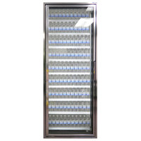 Styleline CL3080-LT Classic Plus 30 inch x 80 inch Walk-In Freezer Merchandiser Door with Shelving - Anodized Bright Silver, Left Hinge