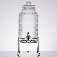 2 Gallon Fifth Avenue Crystal Provence Glass Beverage Dispenser