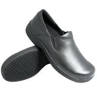 Genuine Grip 470 Women's Size 8 Medium Width Black Ultra Light Non Slip Slip-On Leather Shoe