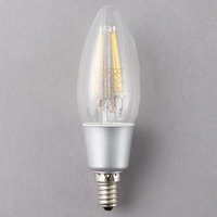 Satco S9570 4.5 Watt (40 Watt Equivalent) Clear Warm White Torpedo LED Light Bulb with Candelabra Base - 120V (C11)
