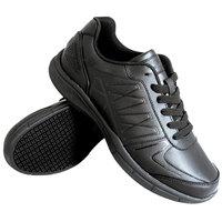 Genuine Grip 160 Women's Size 8 Wide Width Black Leather Athletic Non Slip Shoe