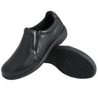 Genuine Grip 410 Women's Size 8 Wide Width Black Ultra Light Non Slip Slip-On Leather Shoe