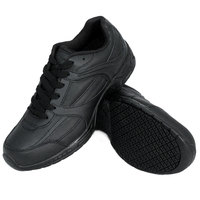 Genuine Grip 1110 Women's Size 8 Wide Width Black Leather Athletic Non Slip Shoe