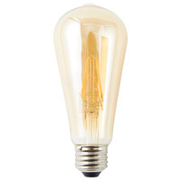 Satco S9578 4.5 Watt (40 Watt Equivalent) Transparent Amber LED Light Bulb - 120V (ST19)
