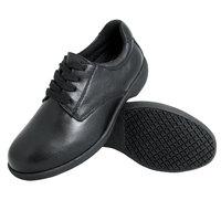 Genuine Grip 420 Women's Size 9 Wide Width Black Full Grain Leather Tie Non Slip Shoe