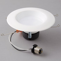 Satco S9476 18 Watt (90 Watt Equivalent) Warm White LED Downlight Retrofit 5''-6'' Light Fixture - 120V