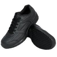 Genuine Grip 1011 Women's Size 9.5 Wide Width Black Leather Steel Toe Jogger Non Slip Shoe