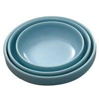 Blue Jade 8 oz. Round Melamine Flat Bowl - 12 / Pack