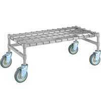 Metro MHP53C 36 inch x 24 inch x 14 inch Heavy Duty Mobile Chrome Dunnage Rack with Wire Mat - 800 lb. Capacity