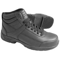 Genuine Grip 1021 Men's Size 7.5 Wide Width Black Steel Toe Non Slip Leather Boot