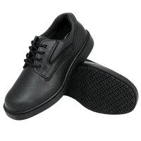 Genuine Grip 7110 Men's Size 9 Wide Width Black Oxford Steel Toe Non Slip Leather Shoe