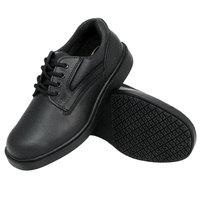 Genuine Grip 7110 Men's Size 10.5 Wide Width Black Oxford Steel Toe Non Slip Leather Shoe