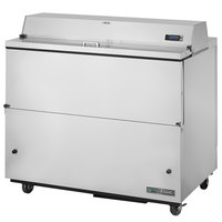 True TMC-49-S-HC 49 inch One Sided Milk Cooler with Stainless Steel Exterior and Aluminum Interior
