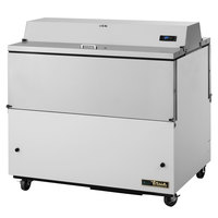 True TMC-49-DS-HC 49 inch Two Sided Milk Cooler with White / Stainless Steel Exterior and Aluminum Interior