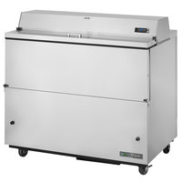 True TMC-49-S-SS-HC 49 inch One Sided Milk Cooler with Stainless Steel Exterior and Interior