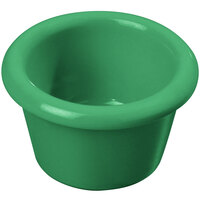 Carlisle S27509 1.5 oz. Green Smooth Plastic Ramekin - 48/Case