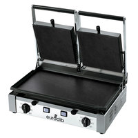 Eurodib PDF3000 20 inch Double Panini Grill with Smooth Plates - 220V, 3000W