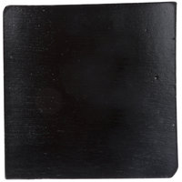 Tablecraft BAMDSBK2 2 1/2 inch x 2 1/2 inch Black Bamboo Disposable Square Dish - 48/Case