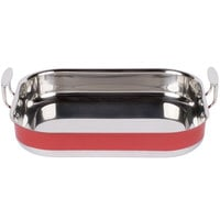 Tablecraft CW2032R 6 Qt. Red Tri-Ply Roast Pan