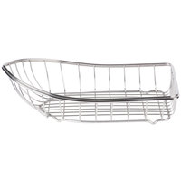 GET 4-80008 Stainless Steel Boat Basket - 10 3/4 inch x 6 1/4 inch x 3 1/4 inch
