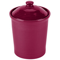 Homer Laughlin 571341 Fiesta Claret 1 Qt. Small Canister with Cover - 2/Case