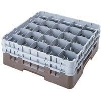Cambro 25S1058167 Camrack 11 inch High Brown 25 Compartment Glass Rack