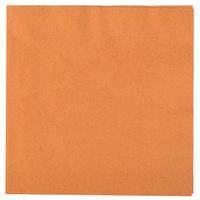 Creative Converting 323383 Pumpkin Spice Orange 3-Ply Paper Dinner Napkin - 250/Case