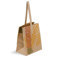 1/2 Peck Go Bananas – Sophomore Natural Brown Kraft Paper Produce Market Stand Bag with Handle 500 / Case
