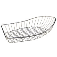GET 4-81220 Stainless Steel Boat Basket - 16 1/2 inch x 9 1/2 inch x 4 3/4 inch