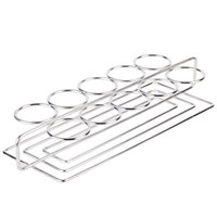 GET 4-82010 Stainless Steel 10 Round Compartment Dessert Caddy - 11 3/4 inch x 3 1/4 inch x 1 1/4 inch