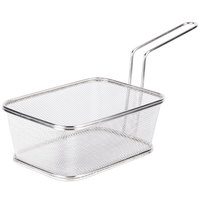 GET 4-818610 8 inch x 6 inch x 5 inch Stainless Steel Party Size Serving Fry Basket