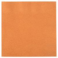 Creative Converting 323390 Pumpkin Spice Orange 3-Ply Beverage Napkin - 500/Case
