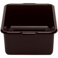 Cambro 21157CBR131 Cambox 21 inch x 15 inch x 7 inch Dark Brown Plastic Regal Bus Box