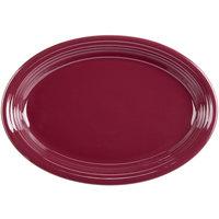 Homer Laughlin 458341 Fiesta Claret 13 5/8 inch x 9 1/2 inch Oval Platter - 12/Case