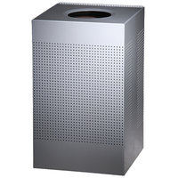 Rubbermaid SC18EPL Silhouettes Metallic Silver Steel Designer Waste Receptacle - 40 Gallon (FGSC18EPLSM)